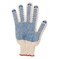 040901 Перчатки 5-нитка 7,5 класс с ПВХ Серая плотная