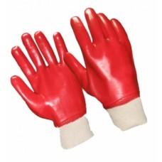 040919 Перчатки х/б с одинарным латексным покрытием Красные