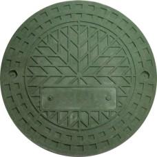 Люк полим\песч.круглый зеленый.0,7т 460см
