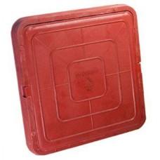 Люк квадратный 46*46 красный(садовый)