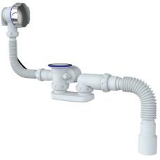 """Сифон автомат""""Unicorn"""" S102 для ванны с низким выпуском."""