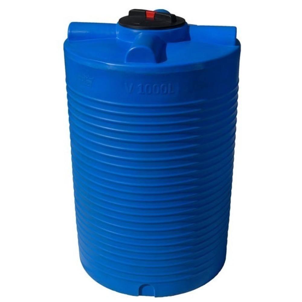 Емкость V1000л   Грандпласт вертикальная синяя (в1510/диам960)