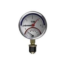 Термоманометр радиальный TIM10бар(Y-80-10bar)