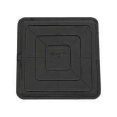 Люк квадратный 46*46 черный(садовый)