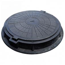Люк полимерно-композитный круглый D460 мм (черный)садовый