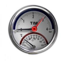 Термоманометр аксиальный TIM10бар(Y-80T-10bar)