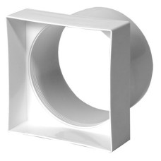 Переходник(квадрат/круг)95*95  100 Прозрачн.