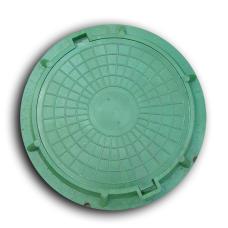 Люк полимерно-композитный круглый D460 мм (зеленый)садовый