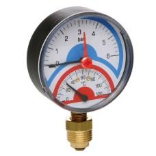 Термоманометр радиальный Icma 6бар(258/91258AD06120)