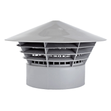 Грибок вентиляционный  160 серый
