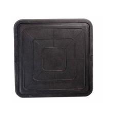 Люк квадратный легкий черный 3т.51*51